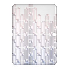 Seamless Horizontal Modern Stylish Repeating Geometric Shapes Rose Quartz Samsung Galaxy Tab 4 (10.1 ) Hardshell Case