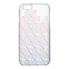 Seamless Horizontal Modern Stylish Repeating Geometric Shapes Rose Quartz iPhone 6/6S TPU Case