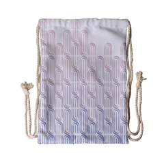 Seamless Horizontal Modern Stylish Repeating Geometric Shapes Rose Quartz Drawstring Bag (Small)