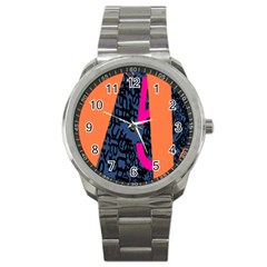 Recursive Reality Number Sport Metal Watch