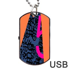 Recursive Reality Number Dog Tag USB Flash (One Side)