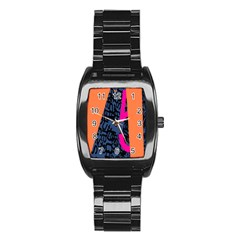 Recursive Reality Number Stainless Steel Barrel Watch
