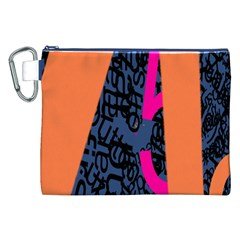 Recursive Reality Number Canvas Cosmetic Bag (XXL)
