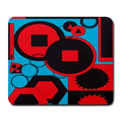 Stancilm Circle Round Plaid Triangle Red Blue Black Large Mousepads