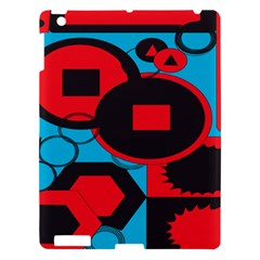 Stancilm Circle Round Plaid Triangle Red Blue Black Apple iPad 3/4 Hardshell Case