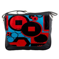 Stancilm Circle Round Plaid Triangle Red Blue Black Messenger Bags