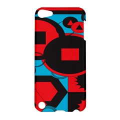 Stancilm Circle Round Plaid Triangle Red Blue Black Apple iPod Touch 5 Hardshell Case