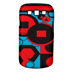Stancilm Circle Round Plaid Triangle Red Blue Black Samsung Galaxy S III Classic Hardshell Case (PC+Silicone)