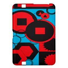 Stancilm Circle Round Plaid Triangle Red Blue Black Kindle Fire HD 8.9