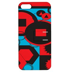 Stancilm Circle Round Plaid Triangle Red Blue Black Apple iPhone 5 Hardshell Case with Stand