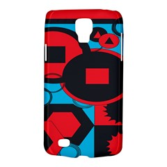 Stancilm Circle Round Plaid Triangle Red Blue Black Galaxy S4 Active