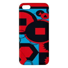 Stancilm Circle Round Plaid Triangle Red Blue Black Iphone 5s/ Se Premium Hardshell Case