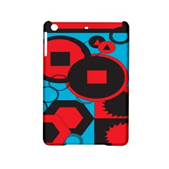 Stancilm Circle Round Plaid Triangle Red Blue Black iPad Mini 2 Hardshell Cases