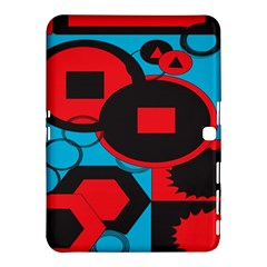 Stancilm Circle Round Plaid Triangle Red Blue Black Samsung Galaxy Tab 4 (10.1 ) Hardshell Case