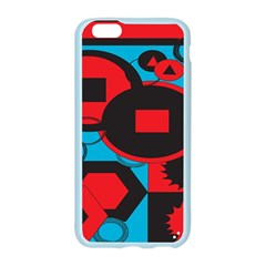 Stancilm Circle Round Plaid Triangle Red Blue Black Apple Seamless iPhone 6/6S Case (Color)