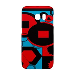 Stancilm Circle Round Plaid Triangle Red Blue Black Galaxy S6 Edge