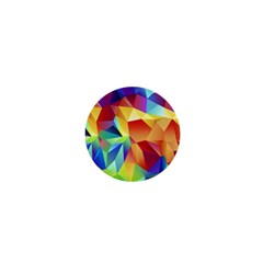 Triangles Space Rainbow Color 1  Mini Magnets