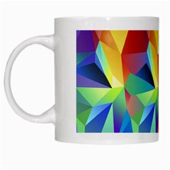Triangles Space Rainbow Color White Mugs