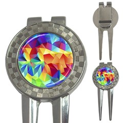 Triangles Space Rainbow Color 3-in-1 Golf Divots