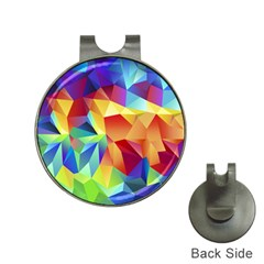 Triangles Space Rainbow Color Hat Clips with Golf Markers