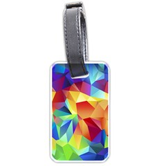 Triangles Space Rainbow Color Luggage Tags (Two Sides)