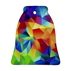 Triangles Space Rainbow Color Bell Ornament (Two Sides)