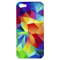 Triangles Space Rainbow Color Apple iPhone 5 Hardshell Case