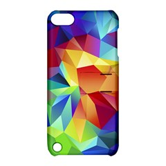 Triangles Space Rainbow Color Apple iPod Touch 5 Hardshell Case with Stand