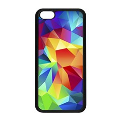 Triangles Space Rainbow Color Apple iPhone 5C Seamless Case (Black)