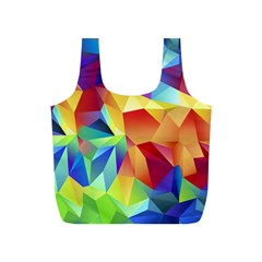 Triangles Space Rainbow Color Full Print Recycle Bags (S)