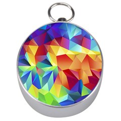 Triangles Space Rainbow Color Silver Compasses