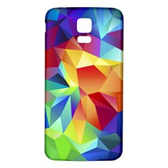 Triangles Space Rainbow Color Samsung Galaxy S5 Back Case (White)