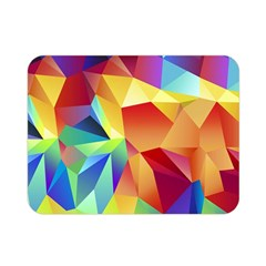 Triangles Space Rainbow Color Double Sided Flano Blanket (Mini)