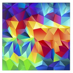 Triangles Space Rainbow Color Large Satin Scarf (Square)