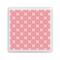 Sunflower Star White Pink Chevron Wave Polka Memory Card Reader (Square)
