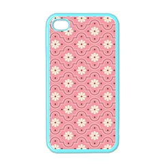 Sunflower Star White Pink Chevron Wave Polka Apple iPhone 4 Case (Color)