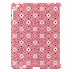 Sunflower Star White Pink Chevron Wave Polka Apple iPad 3/4 Hardshell Case (Compatible with Smart Cover)