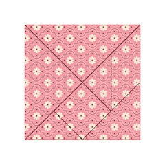 Sunflower Star White Pink Chevron Wave Polka Acrylic Tangram Puzzle (4  x 4 )