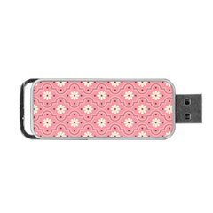 Sunflower Star White Pink Chevron Wave Polka Portable USB Flash (Two Sides)