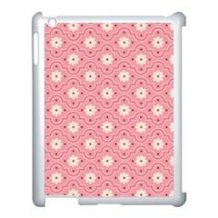 Sunflower Star White Pink Chevron Wave Polka Apple iPad 3/4 Case (White)