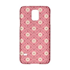 Sunflower Star White Pink Chevron Wave Polka Samsung Galaxy S5 Hardshell Case