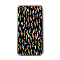 Skulls Bone Face Mask Triangle Rainbow Color Apple iPhone 4 Case (Clear)