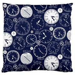 World Clocks Large Cushion Case (One Side)