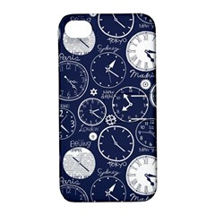 World Clocks Apple iPhone 4/4S Hardshell Case with Stand
