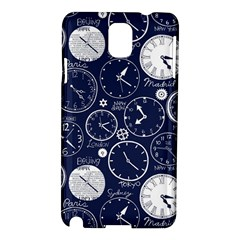 World Clocks Samsung Galaxy Note 3 N9005 Hardshell Case