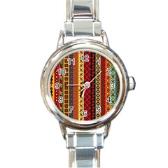 Tribal Grace Colorful Round Italian Charm Watch