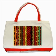 Tribal Grace Colorful Classic Tote Bag (red)