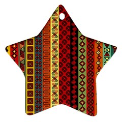 Tribal Grace Colorful Star Ornament (Two Sides)