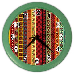 Tribal Grace Colorful Color Wall Clocks