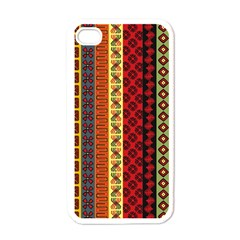 Tribal Grace Colorful Apple iPhone 4 Case (White)